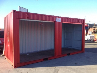 Container kho lắp cửa cuốn
